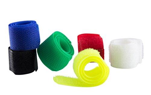 Baumgartens Nylon Cord Wrap 6 pieces ASSORTED COLORS (48001) (Hook Baumgartens)