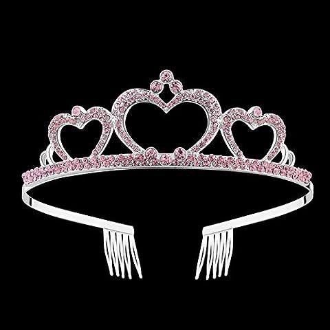 BABEYOND Crystal Birthday Crown and Tiara Kids Princess Birthday Tiara Headband Birthday Party Tiara Crown for Kids Girls - Princess Crown Water