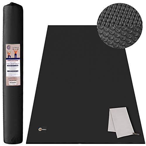 CAMBIVO Large Yoga Mat, Wide Exercise Mat 6'x 4'x 8 mm (72″x 48″) Extra Thick Non Slip Workout Mat for Pilates Stretching Home Workout Gym, Use Without Shoes