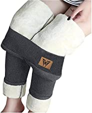 Winter Sherpa Fleece Lined Leggings for Women High Waist Legging Stretchy Thick Cashmere Plush Thermal Pants