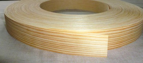 Pre Glued Iron on Pine Wood Veneer Edging Tape, 30mm x 5metres *Free Postage, Fast Dispatch* Edgeband