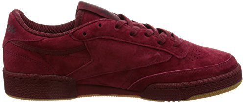 Reebok Herren Club C 85 TG Sneakers Rot (Cllgt Burgundy Dark Red/gum)
