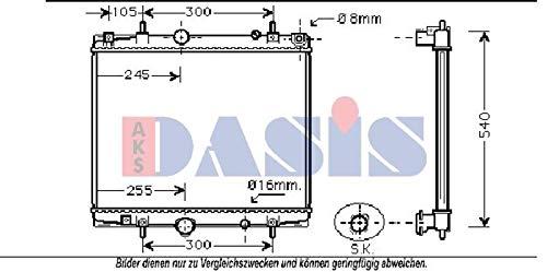 AKS Dasis 160115N Radiator engine cooling