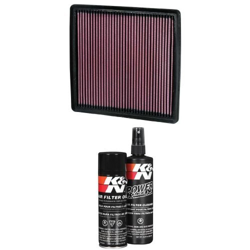 K&N 33-2385 Performance Air filter with Filter Care Service Kit
