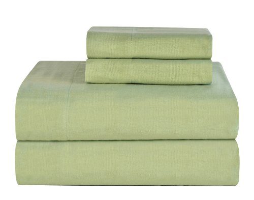 Celeste Home Ultra Soft Flannel Sheet Set with Pillowcase, California King, Sage