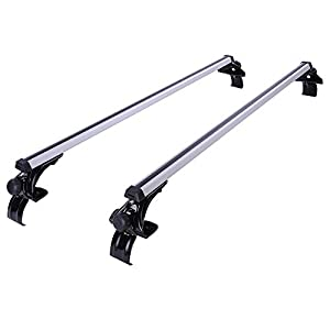 "50"" Universal Aluminum Roof Rack Cross Bars for Car Trucks SUV luggage Carrier with Anti-theft Lock Fit on Window FrameRail 130LBS /58.96KG Capacity"
