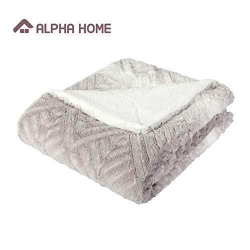 ALPHA HOME Sherpa Blanket 60
