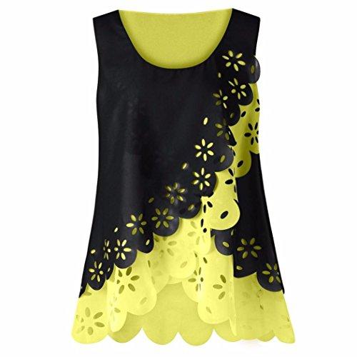 UONQD Woman downblouse dresses pantsuit ladies tops capri shorts womens chiffon sleeve top skirt two piece suit bloes patterns upblouse pants satin bow down(Medium,Yellow) -