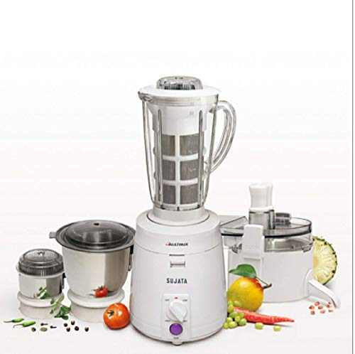 Sujata Multimix 900 W Juicer Mixer Grinder,White