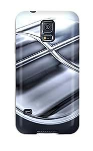 [eysmIMZ5217Sqcof]premium Phone Case For Galaxy S5/ Silver Tpu Case Cover