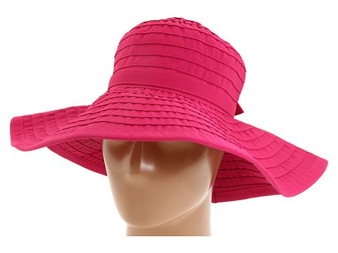 San Diego Hat Ribbon Hat With Large Brim And Bow (One Size - rasberry)
