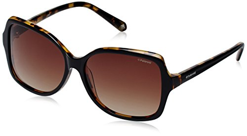 - Polaroid X8404S Polarized Square Sunglasses,Black & Brown Gradiant Polarized,59 mm