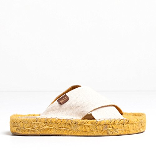 Paez Naturel Alpargatas Sandales jaune Air 8qr8xwFg