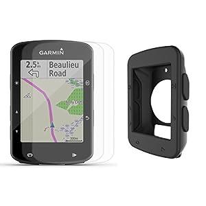 Garmin Edge 520 GPS Cycle Bundle   with PlayBetter Silicone Protective Skin & HD Glass Screen Protector   Bike Mounts & USB Cable   GPS Bike Computer