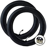 2 x MAXI COSI SPEEDI Stroller/Jogger REAR Inner Tubes 12 1/2'' x 1.75 - 2 1/4'' (45º Bent/Angled Valve) + FREE Shipping + FREE Upgraded Skyscape Metal Valve Caps (Worth $4.99)