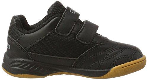 Kappa Unisex-Kinder Kickoff Kids Sneaker Schwarz (1116 Black/Grey)