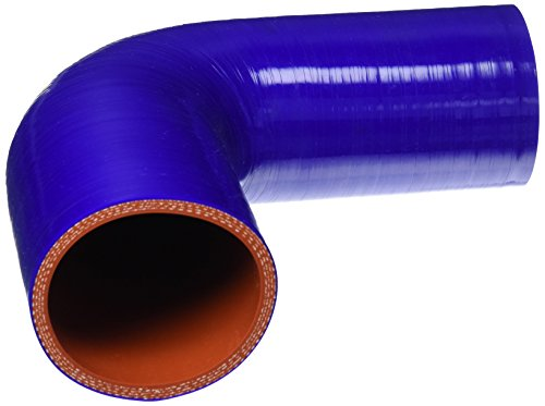 HPS HTSER90-250-275-BLUE Silicone High Temperature 4-ply Reinforced 90 degree Elbow Reducer Coupler Hose, 55 PSI Maximum Pressure, 4