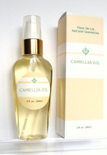 Huile de camélia 100% - Cold pure pressée, Bio ml 2oz / 60. Anti-âge, la peau sèche, les cicatrices d'acné, les vergetures, Cheveux - sans parfum