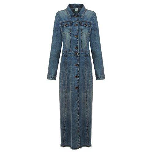 maxi dress and jean jacket - 3