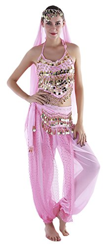 ac0062779b34 Seawhisper India Belly Dancer Costume Pink Genie Outfits for - Import ...
