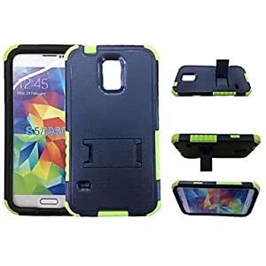"LZX ""Golden Shield"" Robot Style Back Case with Stand for Samsung Galaxy S5 I9600 (Assorted Colors)"