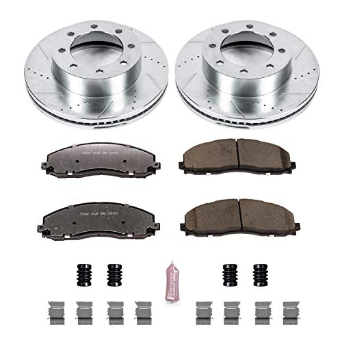 Power Stop K6403-36 Z36 Truck & Tow Front Brake Kit - Ford Truck Rotors