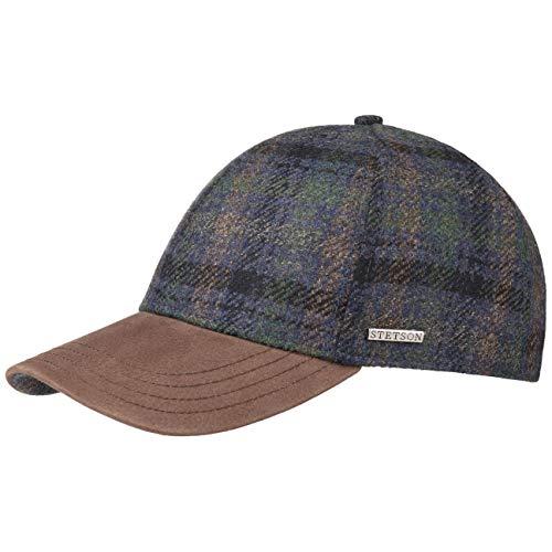 Stetson Myler Wool Check Baseball Cap Men Blue-Green XL (7 1/2-7 5/8) ()