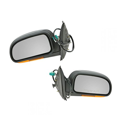 Power Heated Amber Signal Mirror Pair Set for Trailblazer Envoy Bravada Rainier