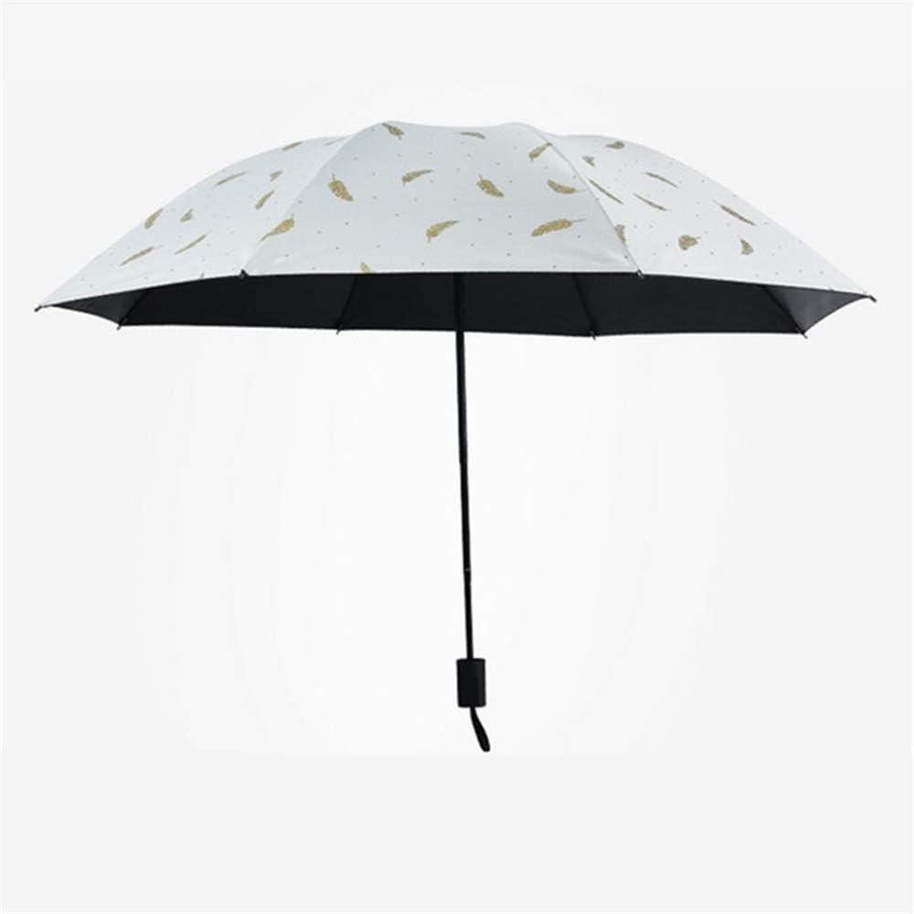 Paraguas Plegable Ligero y Resistente, 1 Punto Abierto y Cerrado,Paraguas Pluma de plástico Negro Protector Solar Sol 30 Veces color12 96cm: Amazon.es: Hogar