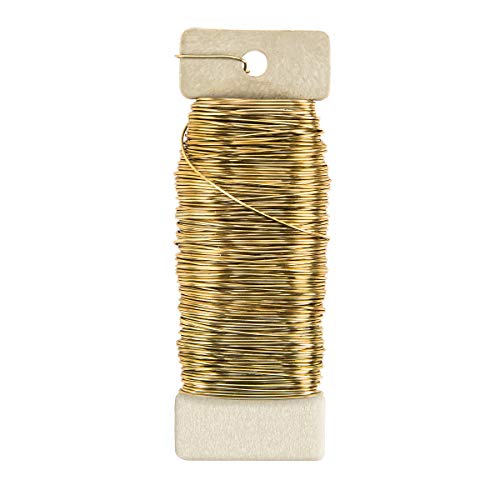 Darice MO522G38YEG Floral Paddle Wire Gold 22 Gauge 20 Pieces Per Box