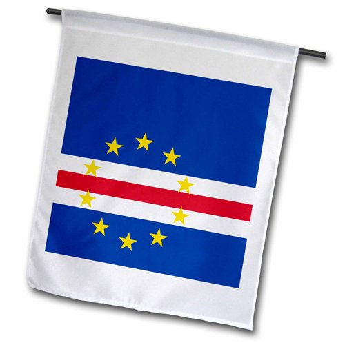 3dRose fl_158277_1 Flag of Cape Verde Island Country Cape Verdean Garden Flag, 12 by (Cape Verde Islands Flag)