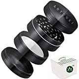 "Herb Grinder, Spice Grinder 2"" Herb Grinders With 4 Layers, 24 Sharp Grinding Teeth, Made of Zinc Alloy, Smellproof - Discreet Whitebox Packaging - New"