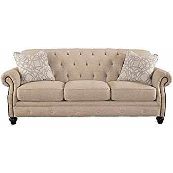Nice Ashley Furniture Signature Design   Kieran Sofa   Traditional Style Couch    Natural Tan