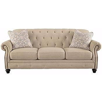 Ashley Furniture Signature Design - Kieran Sofa - Traditional Style Couch - Natural Tan