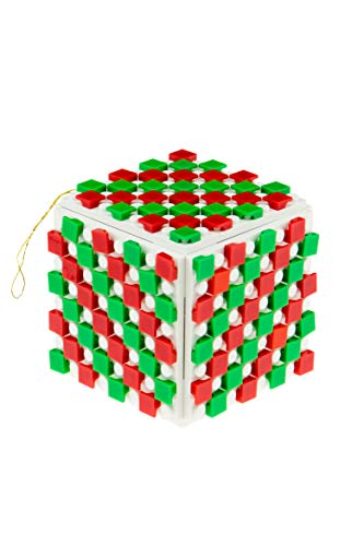 Strictly Briks Design Your Own Brick Ornament Set for Christmas Tree   100% Compatible with All Major Brands   8x8 Baseplates, 1x1 Pixels, and 3D Briks   Xmas Holiday Decoration STEM Toy   164 Pieces