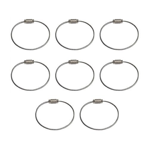 Wire Keychain   Pack Of 8