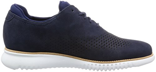 Cole Haan Mannen 2.zerogrand Laser Vleugel Oxford Marine Blauw Nubuck-optic White