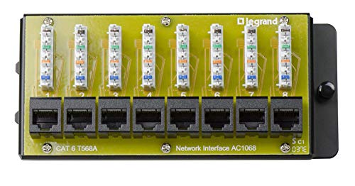 Legrand-On-Q AC1068 8-Port Cat 6 Network Interface Module, 1.5