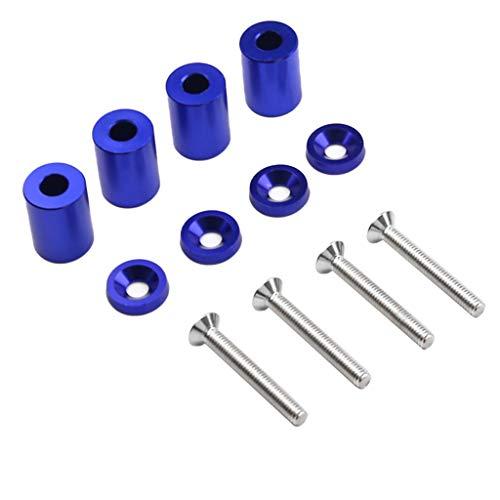 Flameer Engines Components Hood Vent Spacer Riser Kit for Car Motor Turbo Engine - Blue