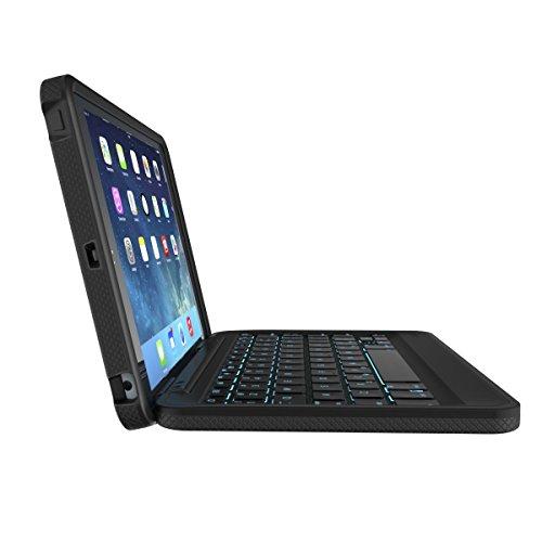 ZAGG Rugged Book Durable Case, Hinged with Detachable Backlit Keyboard for iPad Mini/Mini 2/ Mini 3 - Black by ZAGG (Image #5)