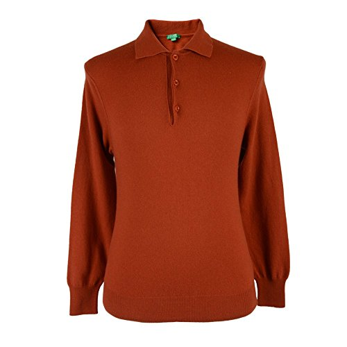 benetton-mens-orange-wool-long-sleeve-polo-style-sweater-us-s-eu-48