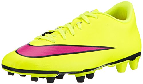 Nike Mercurial Vortex II FG Mens Soccer Shoes (11 D(M) US, Volt/Black/Hyper Pink) (Shoes Nike For Football)