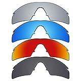 9bada5afbd Mryok 4 Pair Polarized Replacement Lenses for Oakley M Frame Strike Sunglass  - Stealth Black