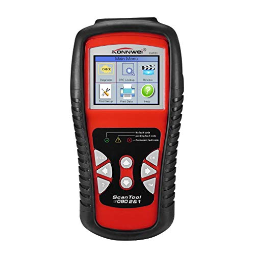 Hongxin Konnwei KW830 OBDII OBD2 Car 2.8 inch Color Screen LCD Code Reader Data Tester Diagnostic Scan Tool ()