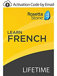 Rosetta Stone: Learn French with Lifetime Access on iOS, Android, PC, and Mac [Activation Code by Email] (B07GKFY4LP) | Amazon price tracker / tracking, Amazon price history charts, Amazon price watches, Amazon price drop alerts