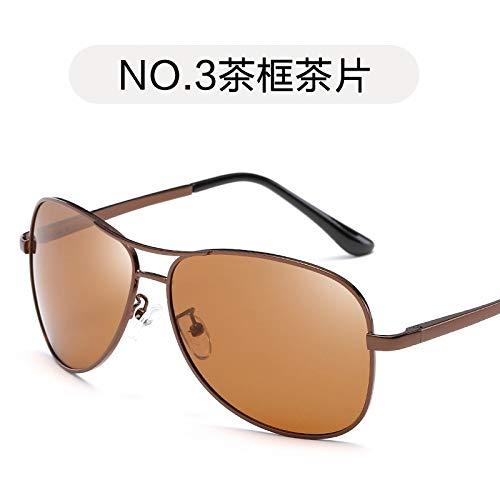 la frame de Pieza Pierna Gafas tea de Burenqiq polarizadas Rana la Tea Marco Moda Pistola Gris Gafas Sol Gafas de Primavera Espejo Hombres de Sol de de Sol Aviador slice Tendencia vwxFafdqw