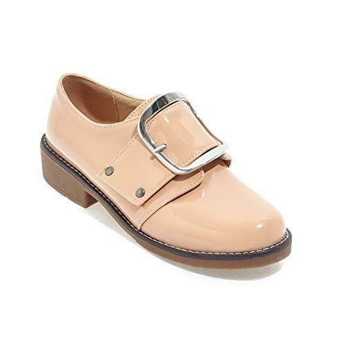 Womens Shoes Dress apricot APL10585 Comfort Buckle BalaMasa Pumps Urethane Solid R0wdqRTO1