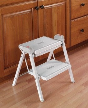 Astonishing Hafele 2 Step Stool 330 Lbs Load Capacity Heavy Duty Folding White Gray 465Mm Pabps2019 Chair Design Images Pabps2019Com