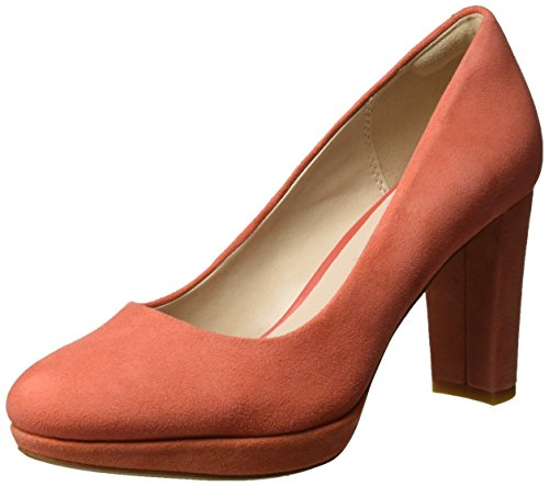 Clarks Kendra Suede 3 Orange Escarpins Coral Femme Sienna Noir UK rrzwdO