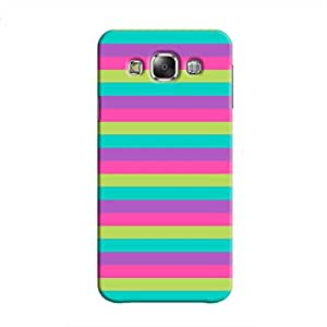 Cover It Up - Pink,Green&Cyan Galaxy E7Hard Case